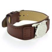 Talisman Brown Leather Strap (No Skin Contact)-13cm-18cm-Brown