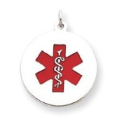Sterling Silver Medical Jewellery Pendant - JewelryWeb