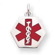 Sterling Silver Medical Jewellery Pendant - JewelryWeb