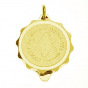Talisman Gold Plated Sos Talisman Pendant - Standard Plain-55cm-Gold
