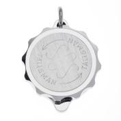 Talisman Titanium Sos Talisman Pendant-63.5cm-Silver
