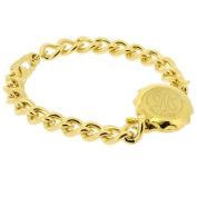 Talisman Gold Plated Sos Talisman Bracelet - Ladies Plain-19cm-Gold