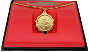 SOS Talisman medical ID Pendant Necklace Gold Plated