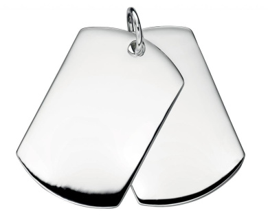 Elements Sterling Silver Men'S Double Dog Tag Pendant