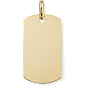 9ct Gold Dog Tag Pendant