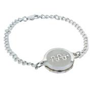 Talisman Sterling Silver Sos Talisman Bracelet - Ladies Snake & Staff, Fine Chain-21cm-Silver