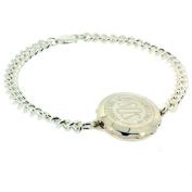 Talisman Sterling Silver Sos Talisman Bracelet - Plain Medium Chain-20cm-Silver