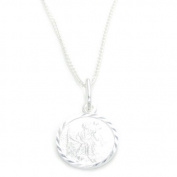 Saint Christopher sterling silver pendant on a 41cm chain .925 IDBT0025
