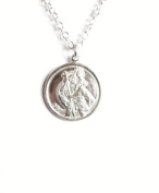 Midor925 925 Sterling Silver St Christopher Pendant Necklace Md00392N In Gift Box