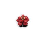 Blue Pearls - Red Howlite Flower Ring NUB 3403 E