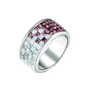 Blue Pearls - Ring. Crystal Elements White and Purple - T7 CRY E400 J Violet - T52