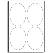 Multi Purpose White Permanent Oval Labels - 4 Labels Per Sheet - 500 Sheets 95mm x 134mm