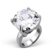 Silvadore - Silver Bead - Solitaire Ring Jewel Diamond Cz Crystal Design - 925 Sterling Charm 3D Slide On 659 - Fits Pandora European Bracelet.