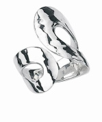 ADJUSTABLE THUMB OR FINGER RING HAMMERED EFFECT HALMARKED 925 SILVER CAN BE ADJUSTED TO FIT ALL SIZES