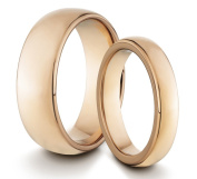 His & Her's 8MM/4MM Tungsten Carbide Polished Rose Gold Classic Styled Comfort Fit Wedding Band Ring Set