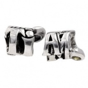 Silverado 'Ti Amo' Silver Charm - Fits On Pandora Chamilia And Troll Bracelets