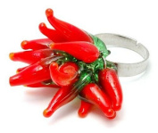 hot red chilli cluster Ring