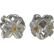 Chrysalis Sterling Silver and 14 Carat Gold Ladies' Lilly Spacer