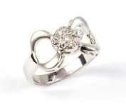 Sterling Silver & Clear Cubic Zirconia Bow Ring