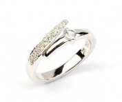 Sterling Silver White Cubic Zirconia Loop Ring