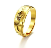 OPK-New Fashion Jewellery Classic Free Size Fits All Sizes Simple 18K gold plated Copper Ring Best Gift!