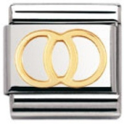 Nomination Composable Classic Daily Life Wedding Ring Stainless Steel and 18K Gold