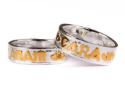 Celtic Irish Mo Anam Cara My Soul Mate Silver with Gold Plating Claddagh Design ring Set