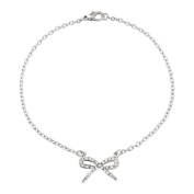 Gorgeous elegant bow anklet with diamantes, the ankle chain bracelet will include pretty gift bag