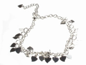 Glitz4Girlz Heart Charm Ankle Chain