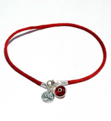 Mizze Made For Luck Jewellery Red String Kabbalah Anklet For Abundance & Success