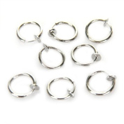 8 Clip On Fake Piercing Nose Lip Hoop Rings Earrings