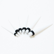 White Start Kit 1.6MM-5MM Acrylic Ear Taper Stretchers Expanders Tapers