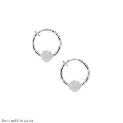 Non Piercing Spring Hoop Body Jewellery with Acrylic Clear Glitter Beads