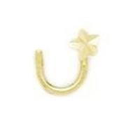 14ct Yellow Gold Star Body Piercing Jewellery Nose Screw - JewelryWeb