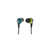 Monoprice 10153 Enhanced Bass Noise Isolating Earphones With Built-in Microphone and Play And Pause Control - Green