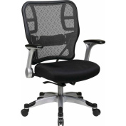 Office Star SpaceGrid Office Chair, Platinum