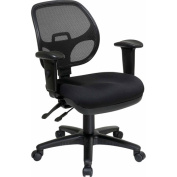 Office Star ProGrid Task Chair with Arms, Black