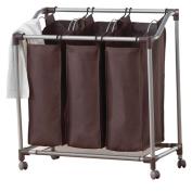 Neatfreak Deluxe Triple Laundry Sorter, Brown