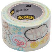 3M C314W-P6 Washi Tape 1. 18 inch x 393 inch - 30mmx10m -Kaleidoscope
