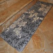 Fashion Street Extra-Long Floral Memory Foam Bath Rug, 0.3m x 1.5m