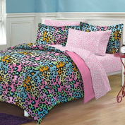 My Room Neon Leopard Complete Bed in a Bag Bedding Set, Pink/Multi