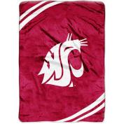 NCAA 150cm x 200cm Royal Plush Raschel Throw, Washington State University