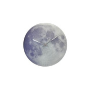 Control Brand Glow in the Dark Moon Wall Clock - 30cm .