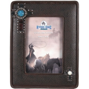 Rivers Edge Products 10cm x 15cm Faux Leather Western Picture Frame