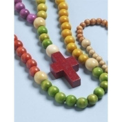 """50cm Multi-Colour Wooden Kiddie """"My First Rosary"""""""