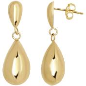 Simply Gold 10kt Yellow Gold Teardrop Earrings