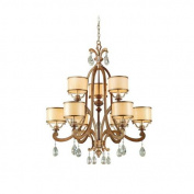 Corbett Lighting 71-09 Chandeliers , Indoor Lighting, Antique Roman Silver