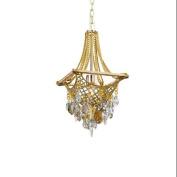 Corbett Lighting 125-41 Pendants , Indoor Lighting, Silver And Gold Leaf