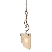 Varaluz 126M01HO Pendants, Indoor Lighting, Hammered Ore With Brown Tinted Ice Glass Shade