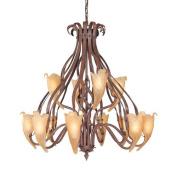 Fredrick Ramond FR49313WAL Chandeliers , Indoor Lighting, Walnut